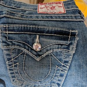 True Religion Ripped Blue jeans 27